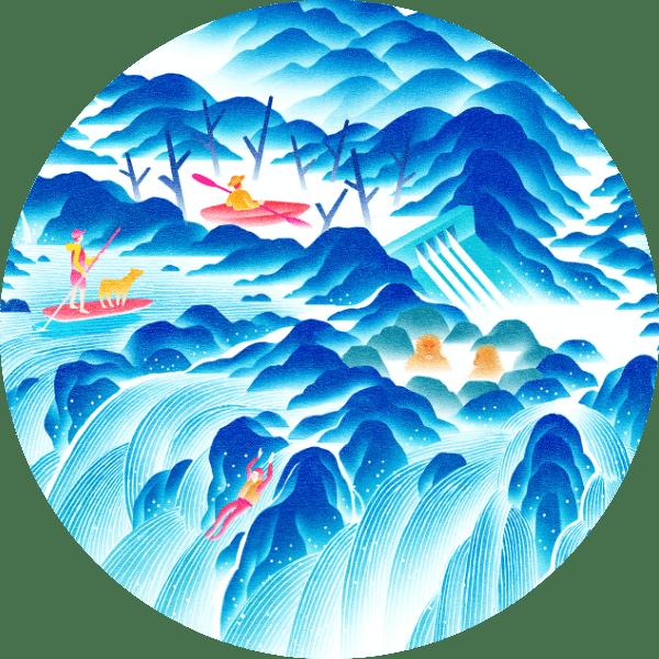 水の遊園地マップ