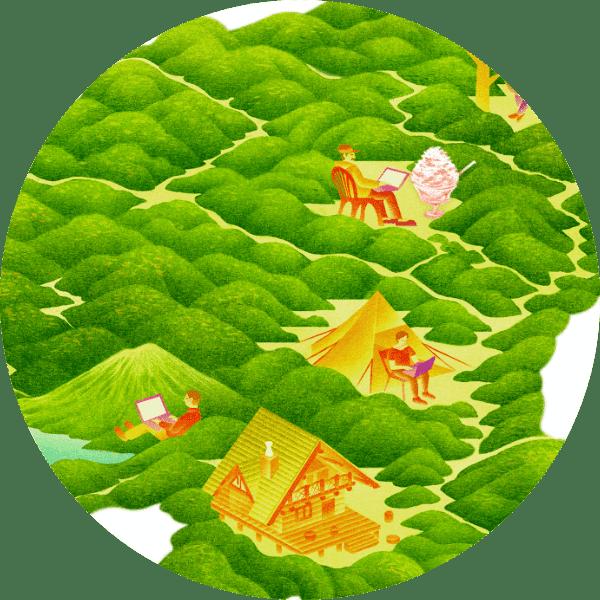 森のオフィスマップ